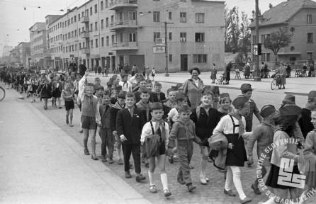 DE1394: Ljubljana, 1957. Foto: Miloš Švabić.