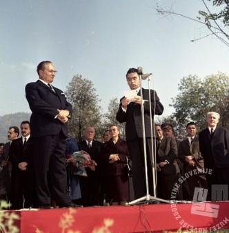 Josip Broz Tito na obisku v Hrastniku, 10. oktober 1968. Foto: Sašo Bernardi.