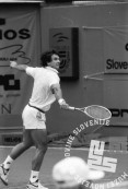 NB9105_22: Boba Živojinović, finale »Slovenia Open«. 12.5.1991, Domžale. Foto: Nace Bizilj.