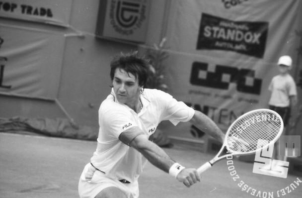 NB9105_25: Boba Živojinović, finale »Slovenia Open«. 12.5.1991, Domžale. Foto: Nace Bizilj.