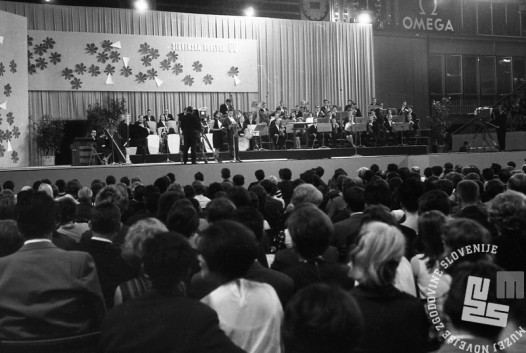 Pogled na dvorano. Ljubljana, junij 1966. Foto: Marjan Ciglič.