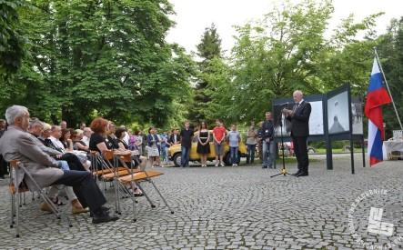 Slavnostni govornik dr. Milan Brglez, predsednik Državnega zbora. Ljubljana, 18. junij 2016. Foto: Sarah Poženel.