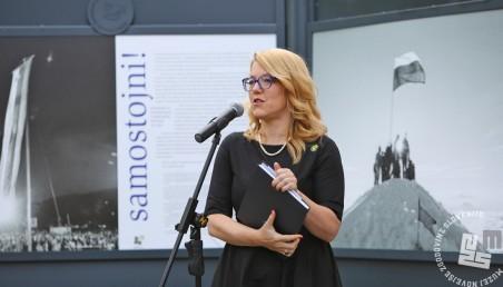 Uvodni pozdrav direktorice Muzeja novejše zgodovine Slovenije, dr. Kaje Širok.