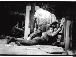 TO med spopadom v Dravogradu, 2. 7. 1991. Foto Tone Stojko, hrani: MNZS.