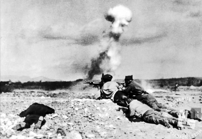 13620: Mitraljezci med bitko pri Guadalajari. 1937.