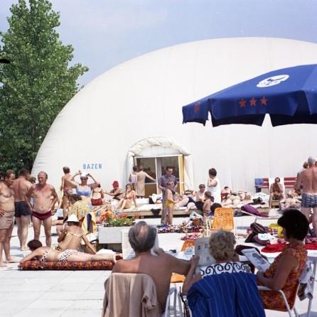 EPC4129_3: Atomske toplice. Podčetrtek, avgust 1973. Foto: Milan Pogačar.