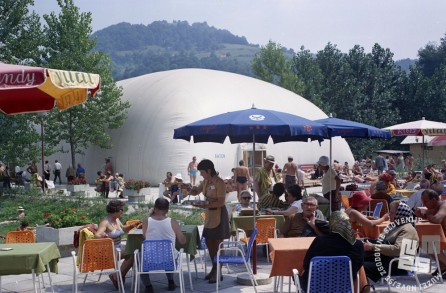 EPC4129_4: Atomske toplice. Podčetrtek, avgust 1973. Foto: Milan Pogačar.