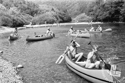 MC9107_18: Kanuji na Kolpi, 20.-25.7.1991. Foto: Marjan Ciglič.
