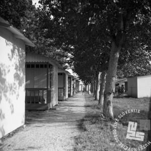 EPT7: Kopališče sv. Nikolaj. Avgust 1951. Foto: Marjan Pfeifer.