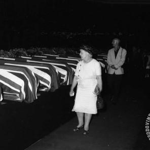FS1654_13: Komemoracija na Taboru za žrtvami letalske nesreče na Brniku. Ljubljana, 3. september 1966. Foto: Sašo Bernardi.