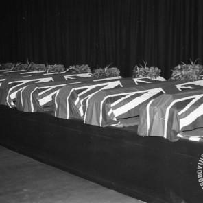 FS1655_6: Komemoracija na Taboru za žrtvami letalske nesreče na Brniku. Ljubljana, 3. september 1966. Foto: Sašo Bernardi.