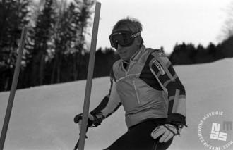 DE6838: Bojan Križaj v akciji. December 1985. Foto: Janez Pukšič.