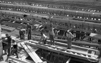 FS3507_11: Prvi objekt nove tovarne, 6. oktober 1946. Foto: Viktor Kramar, hrani: MNZS