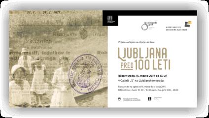 Ljubljana pred 100 leti