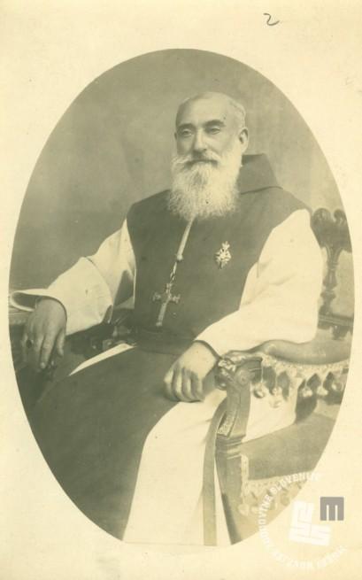Opat Janez Krstnik Epalle. Za časa njegovega opatovanja so menihi zgradili prvo tovarno čokolade na Slovenskem. Foto: neznan, hrani: MNZS.
