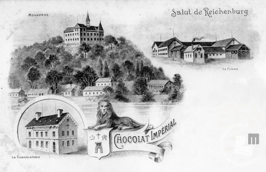 5. Samostan, pristava, tovarna čokolade in grb rajhenburških čokoladnih proizvodov, hrani: MNZS.