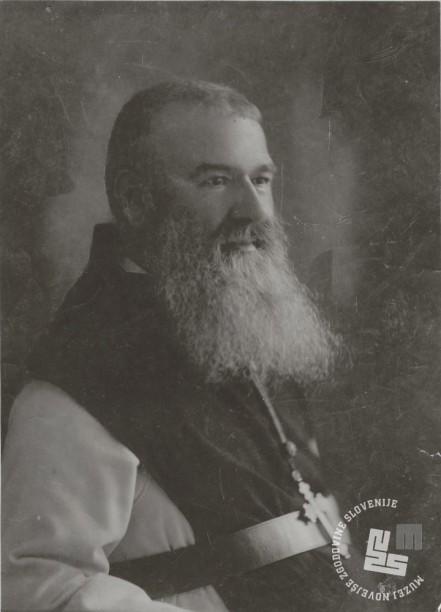 Drugi opat Placide Epalle, ki je od leta 1910 uspešno vodil samostan in nadaljevanje del v tovarni čokolade. Foto: neznan, hrani: MNZS.