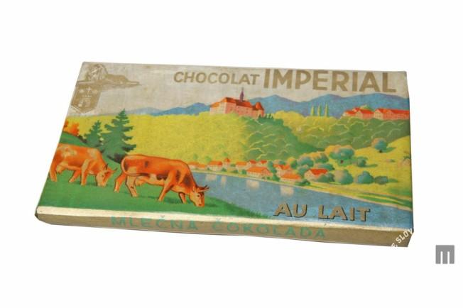 Originalni ovitek trapistovske čokolade Imperial. Hrani MNZS.