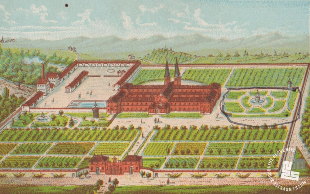 Samostan Dumb, park, kjer je p. Herman 18 let sadil rože in tobak. Last Nete Timer.