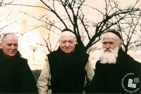 Ena zadnjih fotografij p. Hermana. Prvi z desne je brat Celestin Lavrenčič. Last Nete Timer.