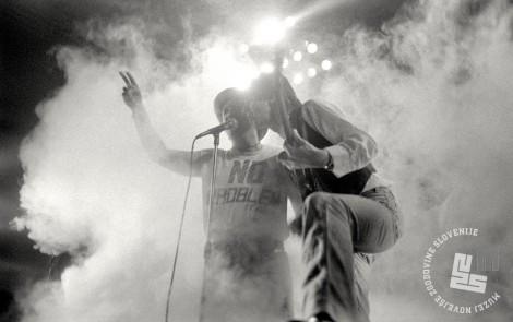 Peter Lovšin- Bogo Pretnar - Pankrti, 10. december 1987. Foto: Janaz Bogataj, hrani: MNZS.