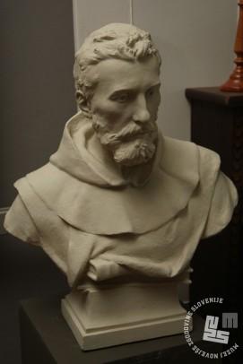 Tudi doprsni kip brata Gabriela je prinesel za razstavo opat Bernard Christol iz Francije. Arhiv MNZS.