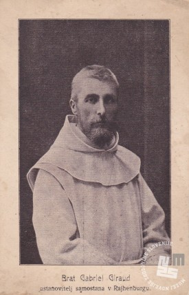 Brat Gabriel Giraud, ustanovitelj samostana Rajhenburg. Foto: neznan, hrani: MNZS.