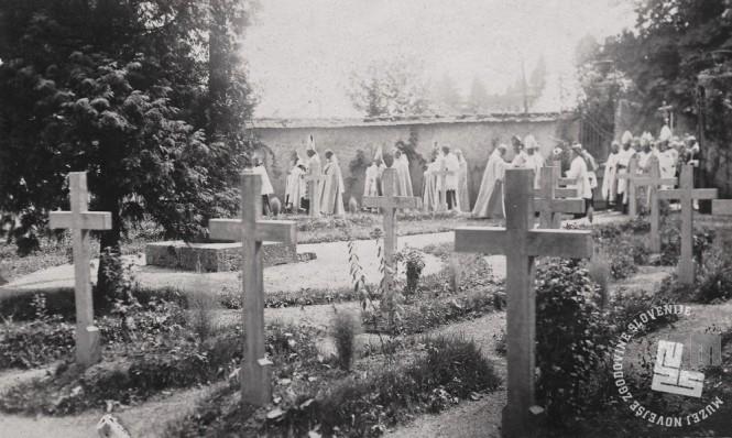 Trapistovsko pokopališče je bilo v neposredni bližini samostana. Foto: neznan, hrani: MNZS.