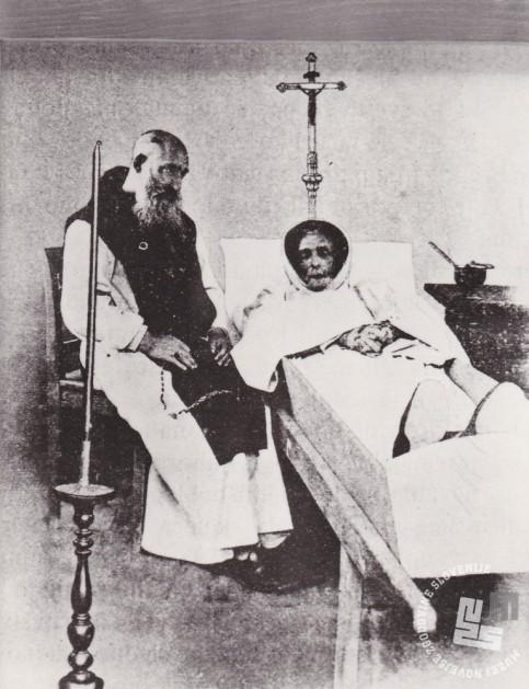 Opat Janez Krstnik Epalle in umrli brat Gabriel Giraud. Foto: neznan, hrani: MNZS.
