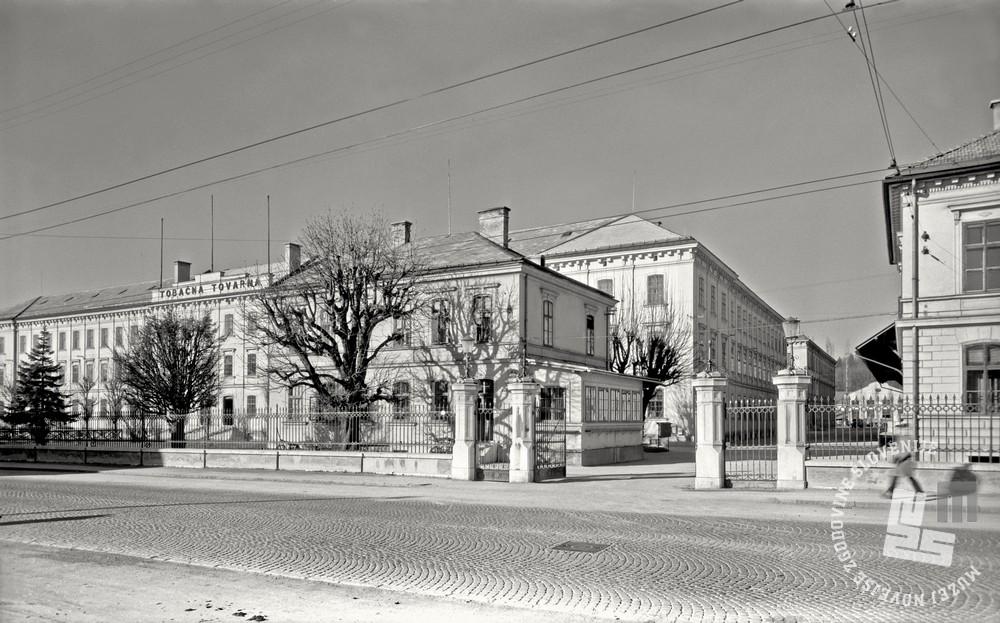 EP3164_1: Tobačna tovarna, Ljubljana, december 1958. Foto: Bogo Primožič, hrani: MNZS.