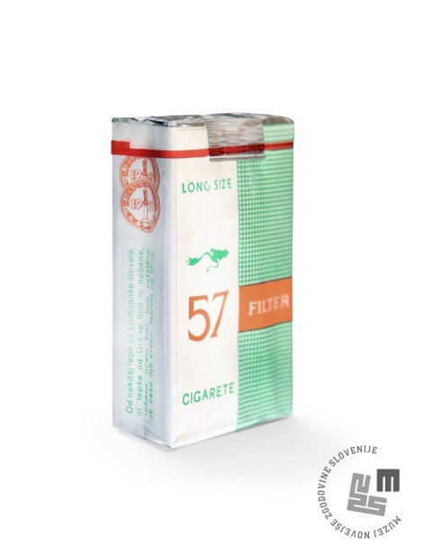 Škatlica cigaret Filter 57, hrani: Tobačni muzej.