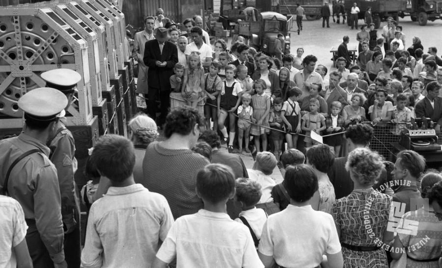 DE244_12: Žrebanje jugoslovanske loterije. Junij / julij 1957. Foto: Svetozar Busić, hrani: MNZS.