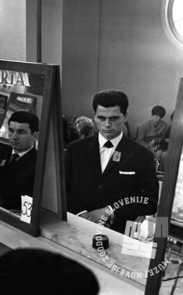 DE4240_4: Tekmovanje frizerjev za Narta pokal. marec 1966. Foto: Svetozar Busić, hrani: MNZS.