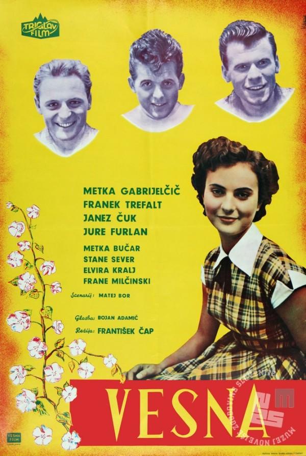 Plakat za film Vesna, režiserja Františka Čapa.