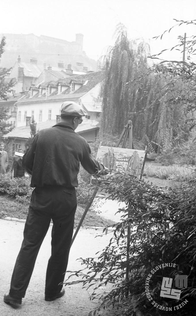 DE1402_35: Foto: Ljubljana, 1955. Dušan Gostinčar, hrani: MNZS.