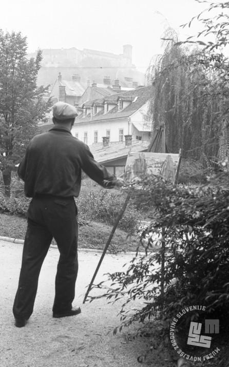 DE1402_36: Foto: Ljubljana, 1955. Dušan Gostinčar, hrani: MNZS.