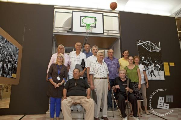 Obisk zlate generacije košarkarjev leta 1970. Muzej novejše zgodovine Slovenije, 19.8.2013. Foto: Sašo Kovačič.