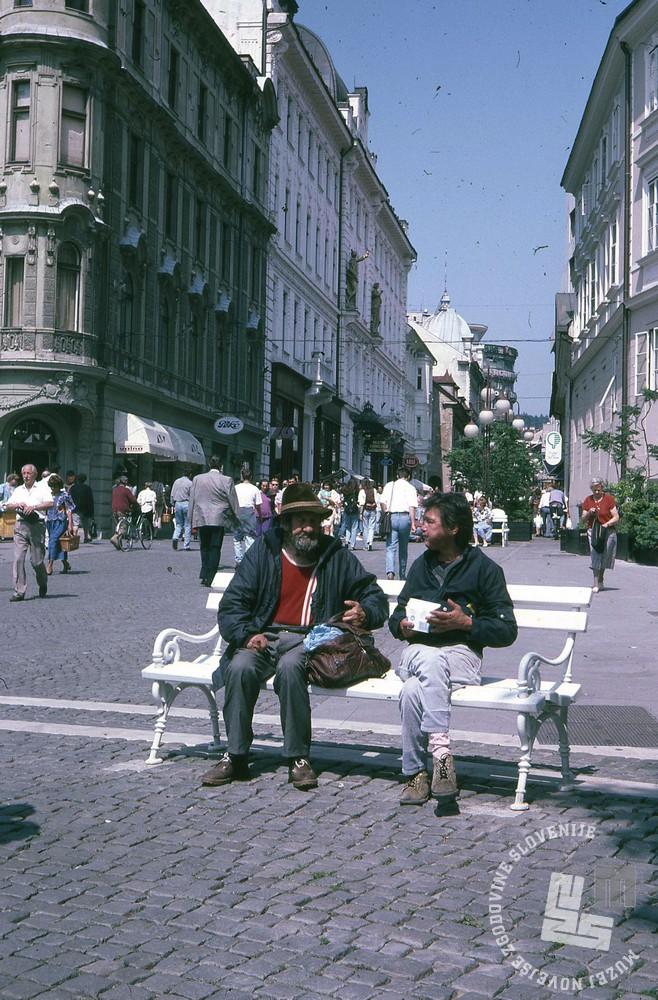 Čopova ulica v Ljubljani. Foto: Svetozar Guček, hrani: MNZS.
