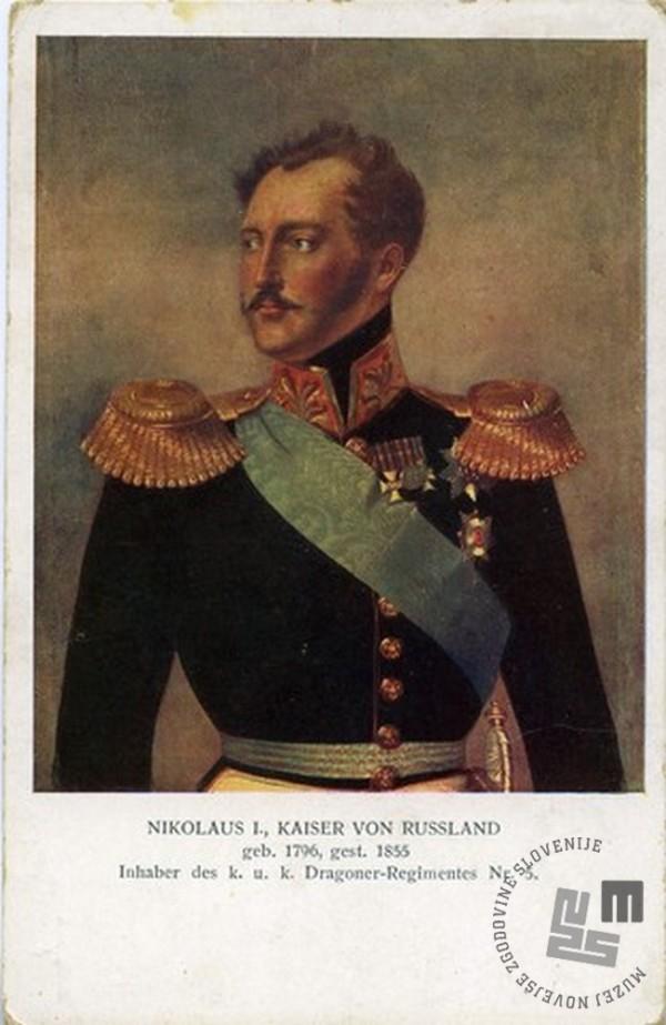 Ruski car Nikolaj I. Romanov. Hrani: Goriški muzej.