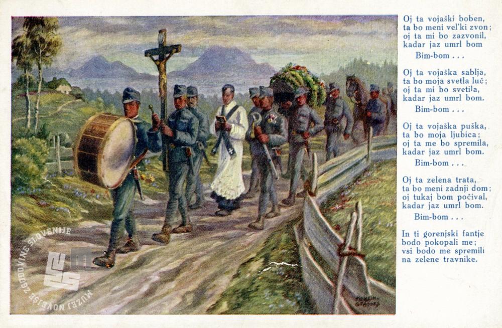 Maksim Gaspari, Oj ta vojaški boben, inv. št. MO 23130.