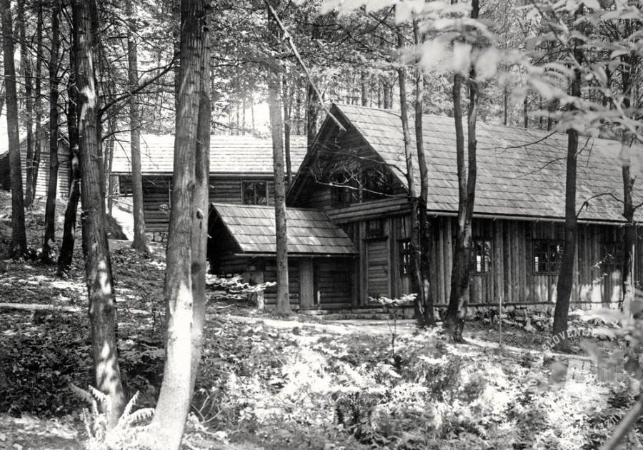 pl3986: Leta 1956 je bila prva muzejska stalna razstava o razvoju narodnoosvobodilnega boja v Sloveniji dopolnjena z razstavo na prostem Partizanske tiskarne. V gozdu v neposredni bližini muzejske stavbe je bilo rekonstruiranih več objektov, med drugimi tudi tiskarna Trilof.