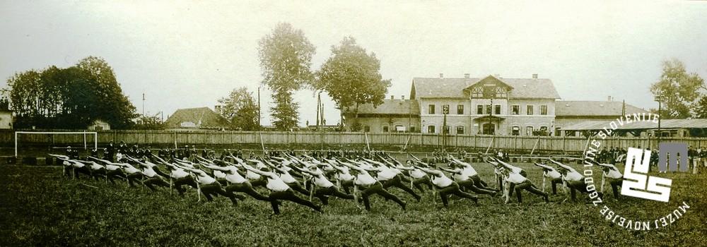 13. Javna telovadba ─Źlanov Sokola na prostoru S.K. Ilirije v Ljubljani, nasproti kolodvora, 31. avgusta 1919
