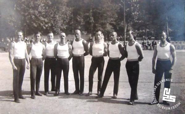 14.b. Jugoslovanska tekmovalna vrsta na svetovnem prvenstvu v Ljubljani, ki je potekalo 11. in 12. avgusta 1922