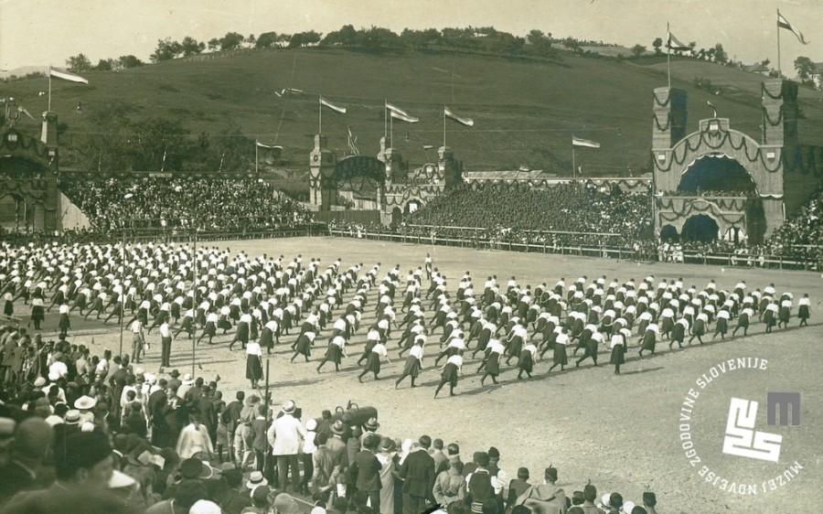 14. Proste vaje ─Źlanic na I. vsesokolskem zletu Sokolov kraljevine Jugoslavije, ki je potekal v ─Źasu od 24. do 26. junija 1930 v Beogradu