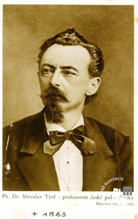 Ustanovitelj sokolskega gibanja dr. Miroslav Tyrš. Foto: neznan.
