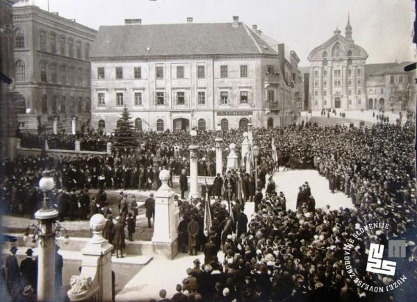 26. Stik sokolstva na Kongresnem trgu v Ljubljani avgusta 1922