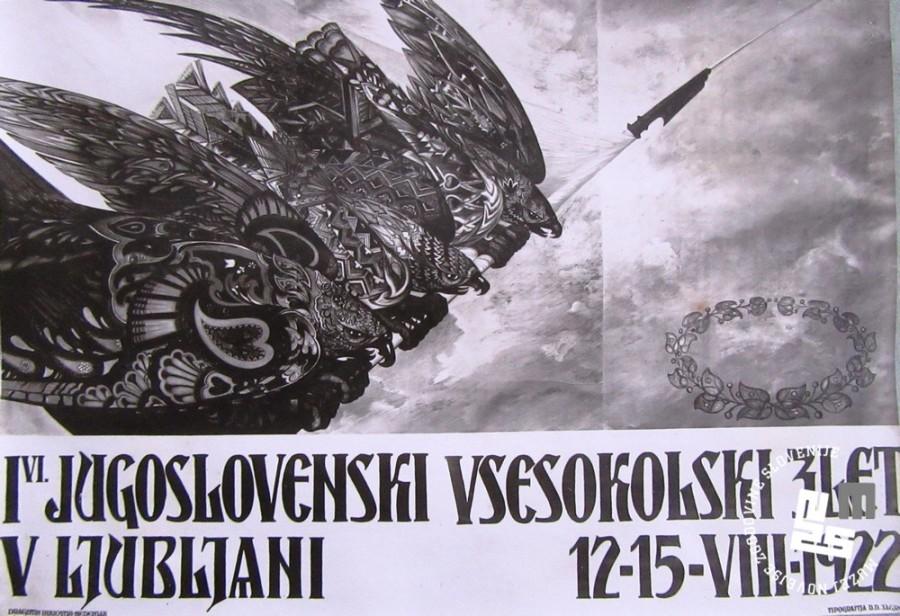 4. I. Jugoslovanski vsesokolski zlet v Ljubljani, ki je bil v ─Źasu od 12. - 15. avgusta 1922. Tipografija D.D. Zagreb