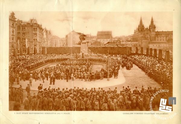 6. Prvi zlet slovanskega sokolstva v Pragi leta 1912. Na tem zletu je postal Stane Vidmar slovanski prvak v orodni telovadbi, Karel Fux pa je bil tretji