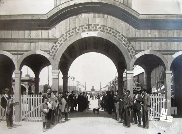 8. Vhod na novo zgrajeni stadion v Be┼żigradu leta 1922