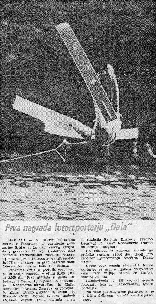 Objavljeno v časopisu Delo, 31. januar 1972.